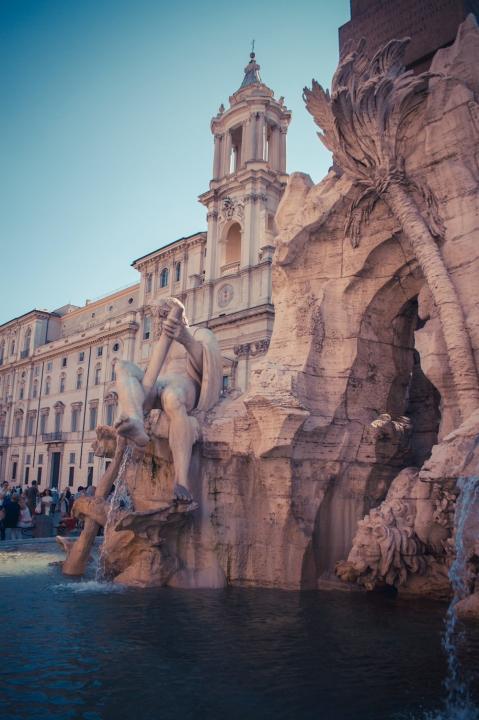 Piazza Navona, Fontana dei Quattro Fiumi.